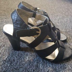 Tahari Shoes - Black Leather Sandals